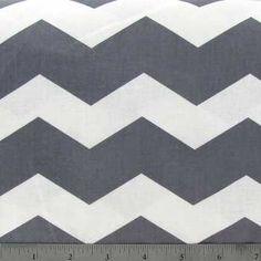 Gray & White Chevron Fabric