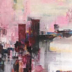 Claudia Grutke abstract paintings. Contemporary artist in Raglan.