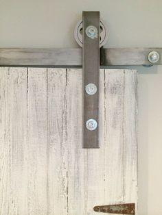 diy rolling barn door hardware - Sweet Maple Blog
