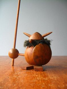Vintage Scandinavian Wooden Viking by luola on Etsy