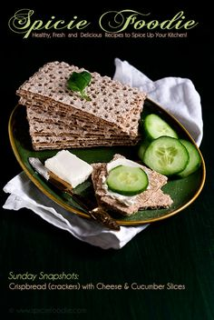 Sunday Snapshots: Crispbread Crackers with Cheese and Cucumbers by Spicie Foodie
