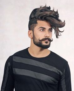 40 Best Handlebar Mustache Styles To Look Super Cool - Buzz 2018 Hipster Hairstyles, Wedding Hairstyles, Mustache Growth, Handlebar Mustache, Medium Hair Styles, Long Hair Styles, Mustache Styles, Lilac Hair, Moustaches