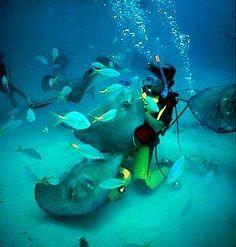 Scuba Diving near the Grand Cayman Island #neverhaveiever @StudentUniverse