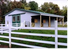 Small horse barn with paddock attached