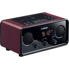 Yamaha - AM/FM Alarm Clock Radio - Dark red, TSX-B72DR