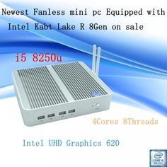 Newest Kaby Lake R 8Gen Fanless mini pc i5 8250u Intel UHD 620 win10 Quad Core 8 Threads DDR4 2133 2400 NUC Freeshipping pc  Price: 341.00 & FREE Shipping  #tech|#electronics|#home|#gadgets Computer Terminal, Core I, Wifi Antenna, Serial Port, Online Shopping Mall, Save Energy, Quad, Free Shipping, Electronics Gadgets