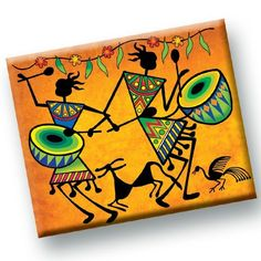 Table mats worli artYou can find Tribal art and more on our website. Madhubani Art, Madhubani Painting, Worli Painting, Fabric Painting, Colorful Drawings, Art Drawings, African Art Paintings, Abstract Paintings, Oil Paintings