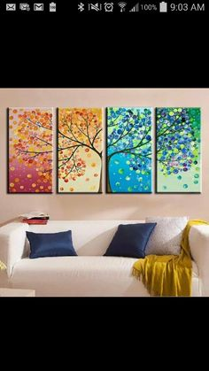 Like the representation of the four seasons in one continuous picture