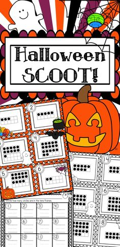 Halloween SCOOT!  Fun with tens frames.