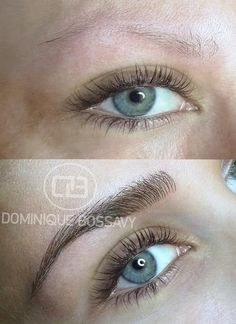 Brows Before + After Nano Color Infusion / permanent makeup procedure