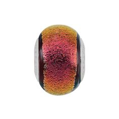 Persona® Sterling Silver Shades of Red Dichroic Glass Bead