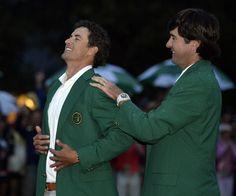 Adam Scott. Green Jacket Ceremony (2013) | Masters