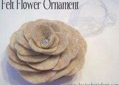 Felt Flower Ornament {No.7}