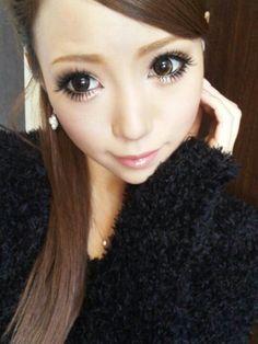 Her eyes are just soo gorgeous <3 #Satomi Yakuwa#gyaru#makeup#circle lenses