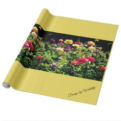 """Gift paper roses """" - wrapping paper custom diy cyo personalize unique present gift idea"""