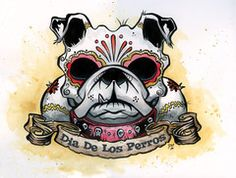 Dia de los Perros Print by David Lozeau