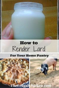 Rendering lard from pork fat is pretty easy, and healthier than store-bought shortening. I love using it in homemade pie crusts! Survival Life, Survival Prepping, Homestead Survival, Survival Skills, Rendering Lard, Raising Backyard Chickens, Homemade Pie Crusts, Chicken Humor, Seasonal Food