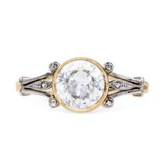 Vintage Art Nouveau diamond engagement ring // Earlmar Drive from Trumpet & Horn // $9,250