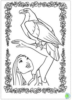 Beautiful Disney Princess Pocahontas And Her Eagle Coloring Page Free Kids PagesDisney PagesColoring For KidsPrintable