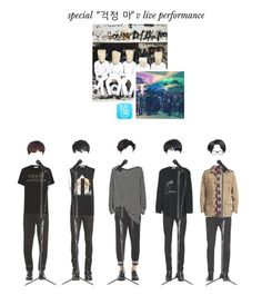 """D:FI - Special ""걱정 마"" V LIVE Performance"" by official-dfi ❤ liked on Polyvore featuring Faith Connexion, Calvin Klein Jeans, Annapurna, Neil Barrett, Gucci, Givenchy, Love Moschino, Yves Saint Laurent, Tom Ford and Julius"