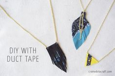 DIY-Kids-Crafts-PRoject-How-To-Make-Necklace-Scotch-Duct-Tape-Upcycle-Recycle.jpg (750×502)