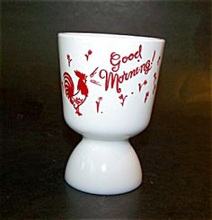 Vintage Anchor Fire King Egg Cup...what a great way to start of your day!