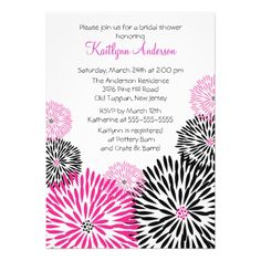 This DealsTrendy Black/Pink Flower Bridal Shower Invitationwe are given they also recommend where is the best to buy