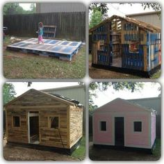 Pallet playhouse...what???? Awesome!