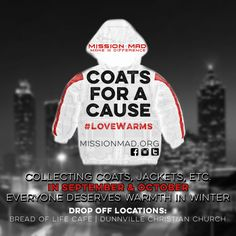 I love seeing teenagers make a difference in their community!  Here's a 17 year old who is organizing a coat drive!  #MissionMad #CoatsforaCause