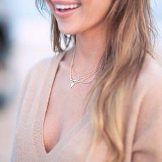 gorjana's photo on Instagram Dainty Gold Jewelry, Arrow Necklace, Gold Necklace, Bridesmaid Jewelry, Jewelry Gifts, Fashion Jewelry, Bridal, Earrings, Instagram