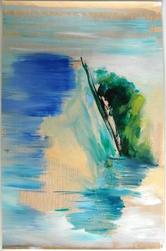 Ana Sério Da Vida das Dunas #1, 2015, 106x69cm #Artist #AnaSério #Colorful #Paintings #Oil on #Paper at #SaoMamede #Art #Gallery in #Algarve #Portugal