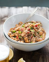 Paprika Chicken and Bulgur Salad Recipe on Food & Wine