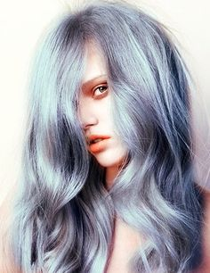 Love the colour Silver hair, pastel hair. Redken shades and (equal parts with equal parts developer) for five minutes on previously lightened hair will give you an amazing pastel silver! Hair Inspo, Hair Inspiration, Color Del Pelo, Color Rubio, Platinum Hair, Cool Hair Color, Hair Colors, Hair Dos, Pretty Hairstyles