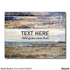 Rustic Bark Postcard