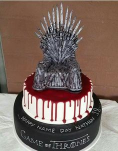 Best 20 Game Of Thrones Birthday Cake .Commemorate a winter season birthday with this warm spiced cake, loaded with nutmeg, cinnamon, and clove. A birthday party simply isn't finish up … Cupcakes, Cupcake Cakes, Game Of Thrones Torte, Game Thrones, Game Of Thrones Birthday Cake, Beautiful Cakes, Amazing Cakes, Got Party, Cake Games