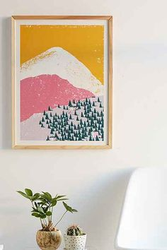 Leaf City Press Mountain Scene No. 1 Art Print - Urban Outfitters