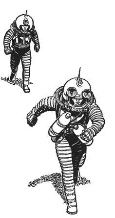 Illustration by Ed Emshwiller Emsh  Spaceship, pulp retro futurism back to the future tomorrow tomorrowland space planet age sci-fi airship steampunk dieselpunk alien aliens martian martians BEMs BEM's