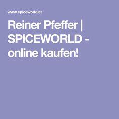 Reiner Pfeffer | SPICEWORLD - online kaufen!