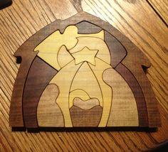 Wooden Nativity Puzzle by PuzzlesnToysnWood on Etsy