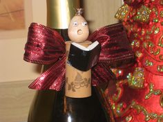 Fa La La La Lush (aka Corked Carolers).  A perfect way to dress up your wine bottle gifts and recycle your old corks.