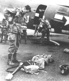 Major General James M. Gavin photographed as he chutes-up for the 82nd Airborne's Operation Neptune, a operation that was a part of D-Day.