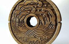 Wooden Tenkara Line Spool (wave pattern): http://www.thetenkarashop.com/product/wave-line-spool/