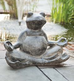 Meditating Frog Garden Statue brings peace and tranquility to your outdoor spaces.