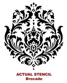 Damask Stencil Cutting Edge Stencils - Brocade Stencil - for painting on furniture.Cutting Edge Stencils - Brocade Stencil - for painting on furniture. Cutting Edge Stencils, Damask Stencil, Stencil Patterns, Stencil Designs, Stencil Walls, Damask Patterns, Painting Stencils, Bird Stencil, Faux Painting