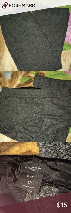 Ann Taylor Twill Pants Size 12 curvy Size 12 curvy - work pants , great condition Ann Taylor Pants Trousers