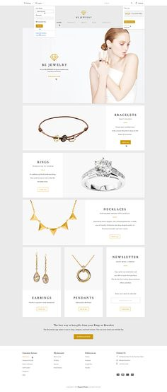 Be Jewelry ! Ecommerce Magento Theme on Behance