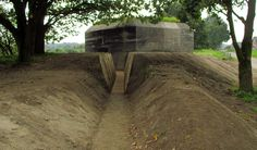 Trench to the entrance of a German bunker, Leusden.