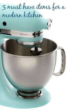5 must have items for ever modern kitchen. Modern kitchen essentials