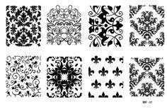 Bbf 07 7 50 Nailed It Nail Art Stamping Plates Plate Nails
