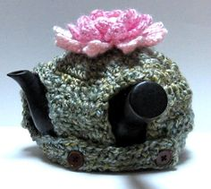 Ravelry: Lotus Kyusu Cozy pattern by Hilary Robbeloth ~ free pattern